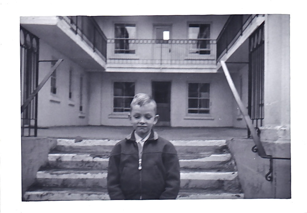 Same building with yours truly on the stairs, in the early 1960's.