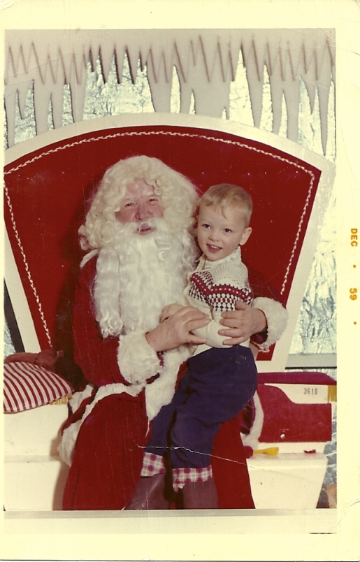 This photo of the big guy and me was taken in the old Simpson's store in downtown Regina around 1960.