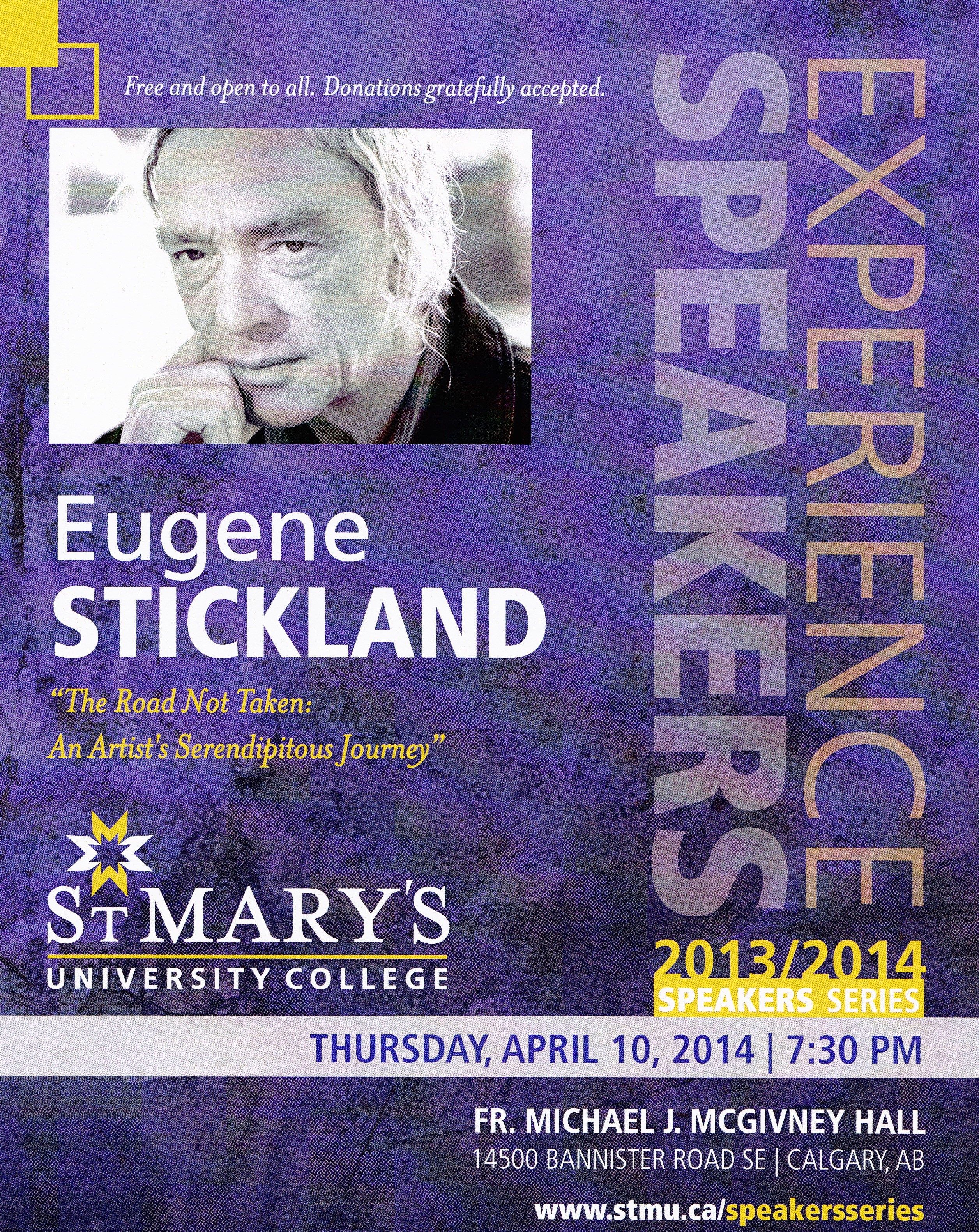 April 2014 eugene stickland on thursday april 10 i gave a public lecture slash reading at st marys university college where i am an instructor as well as writer in residence sciox Choice Image