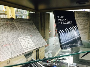 Display of notebooks and pencil at Reid's Stationers